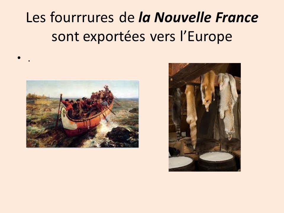 Les fourrrures de la Nouvelle France sont exportées vers l'Europe
