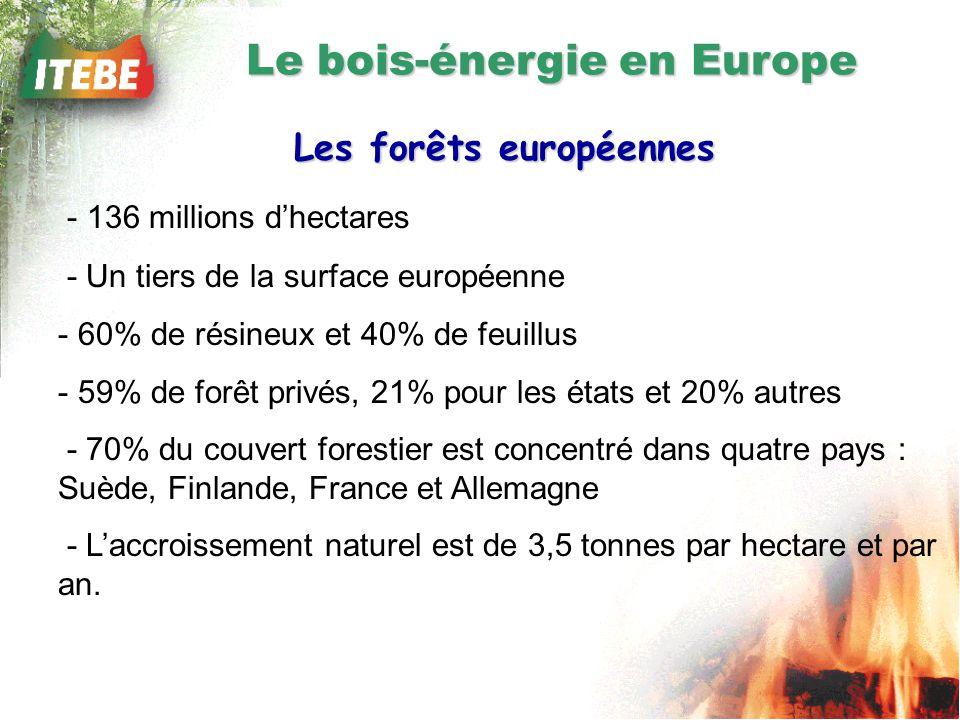 Le bois-énergie en Europe Les forêts européennes