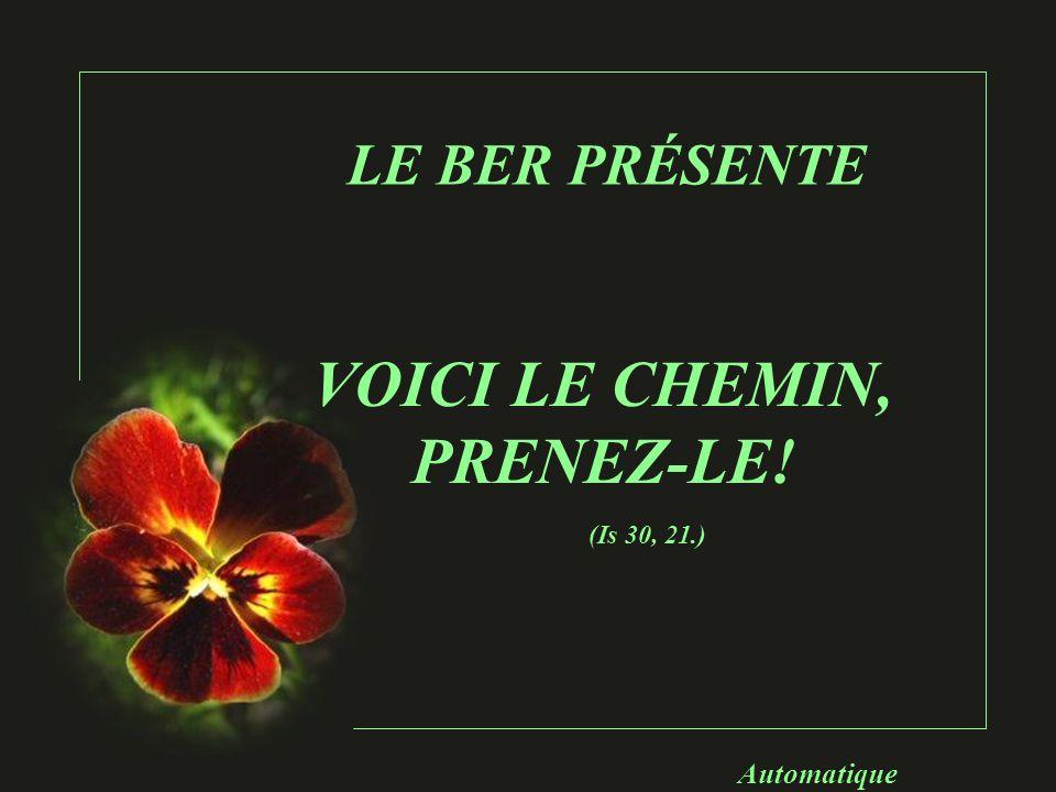 VOICI LE CHEMIN, PRENEZ-LE!