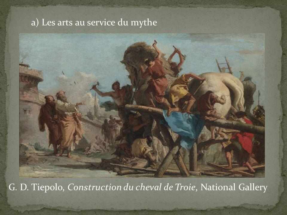 a) Les arts au service du mythe