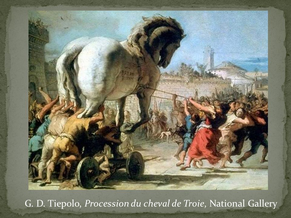 G. D. Tiepolo, Procession du cheval de Troie, National Gallery