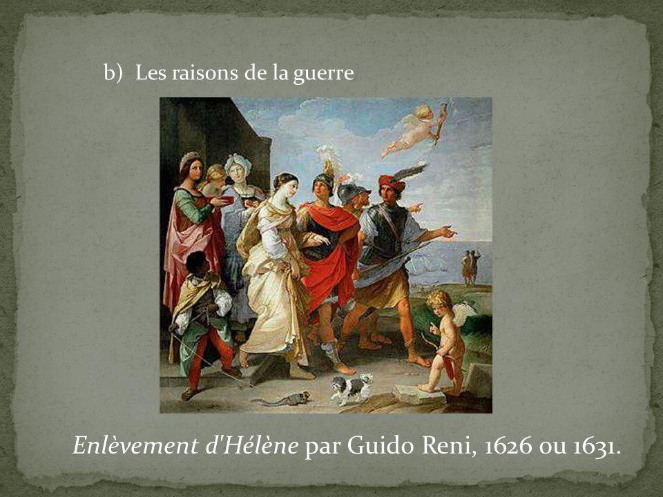Enlèvement d Hélène par Guido Reni, 1626 ou 1631.