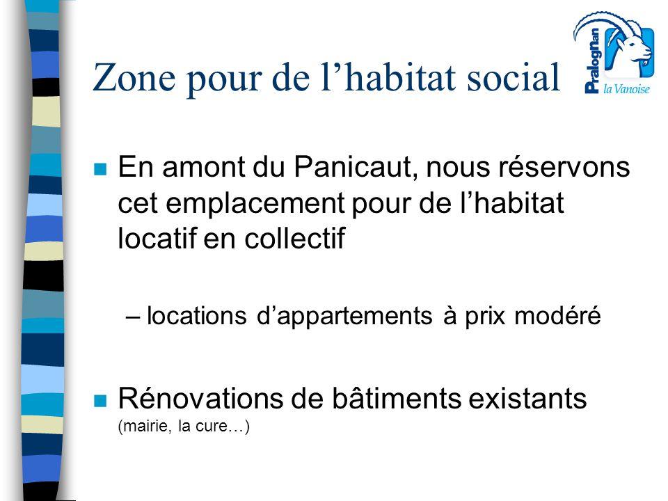 Zone pour de l'habitat social