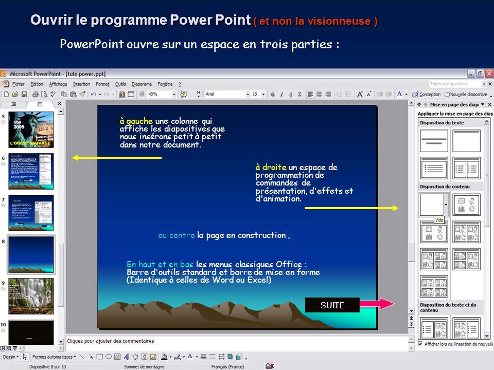 Ouvrir le programme Power Point ( et non la visionneuse )