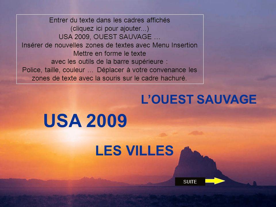 USA 2009 LES VILLES L'OUEST SAUVAGE