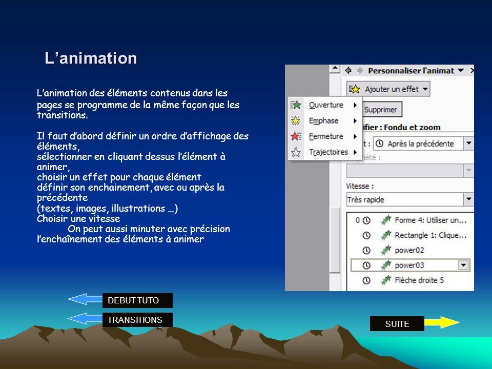 L'animation