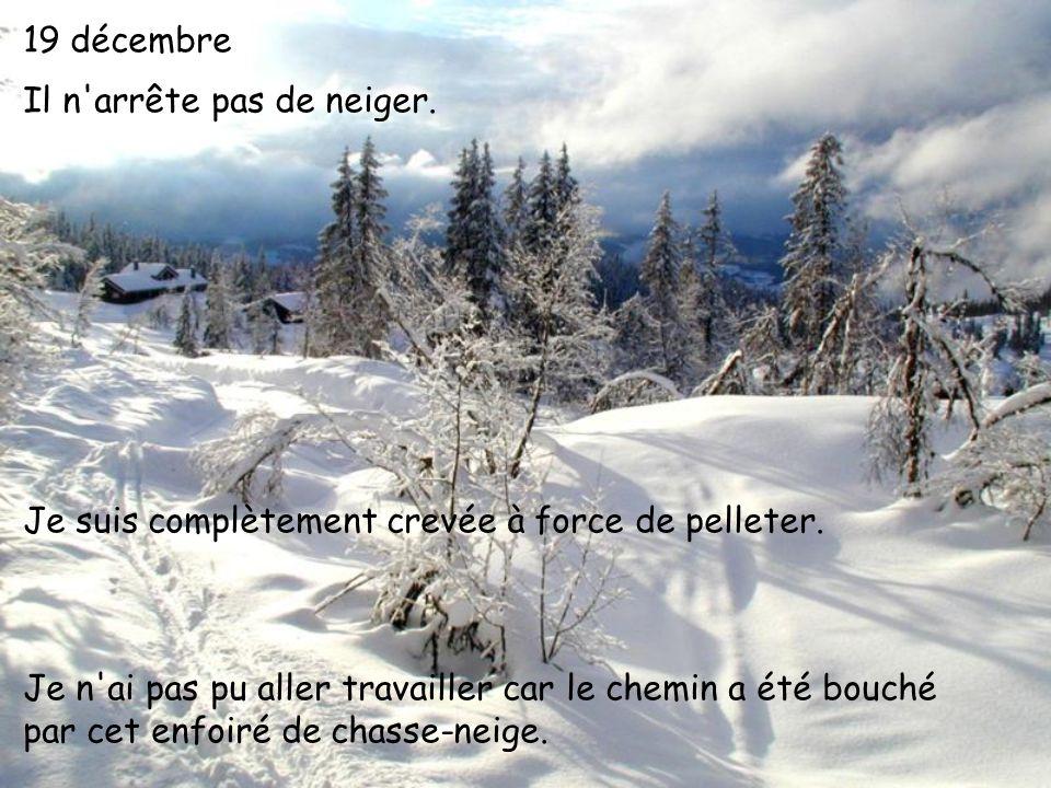 19 décembre Il n arrête pas de neiger