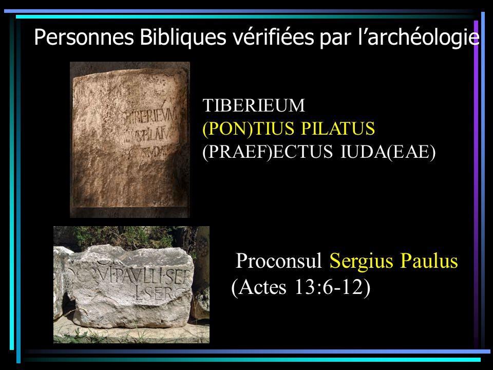 Personnes Bibliques vérifiées par l'archéologie