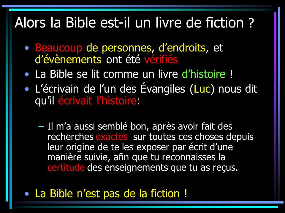 Alors la Bible est-il un livre de fiction