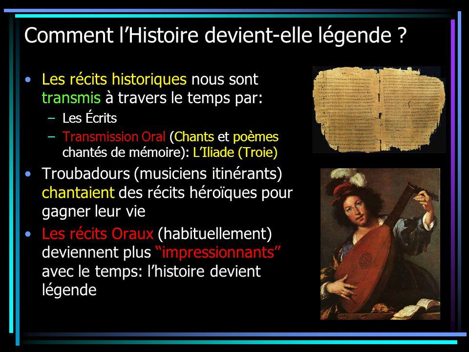 Comment l'Histoire devient-elle légende