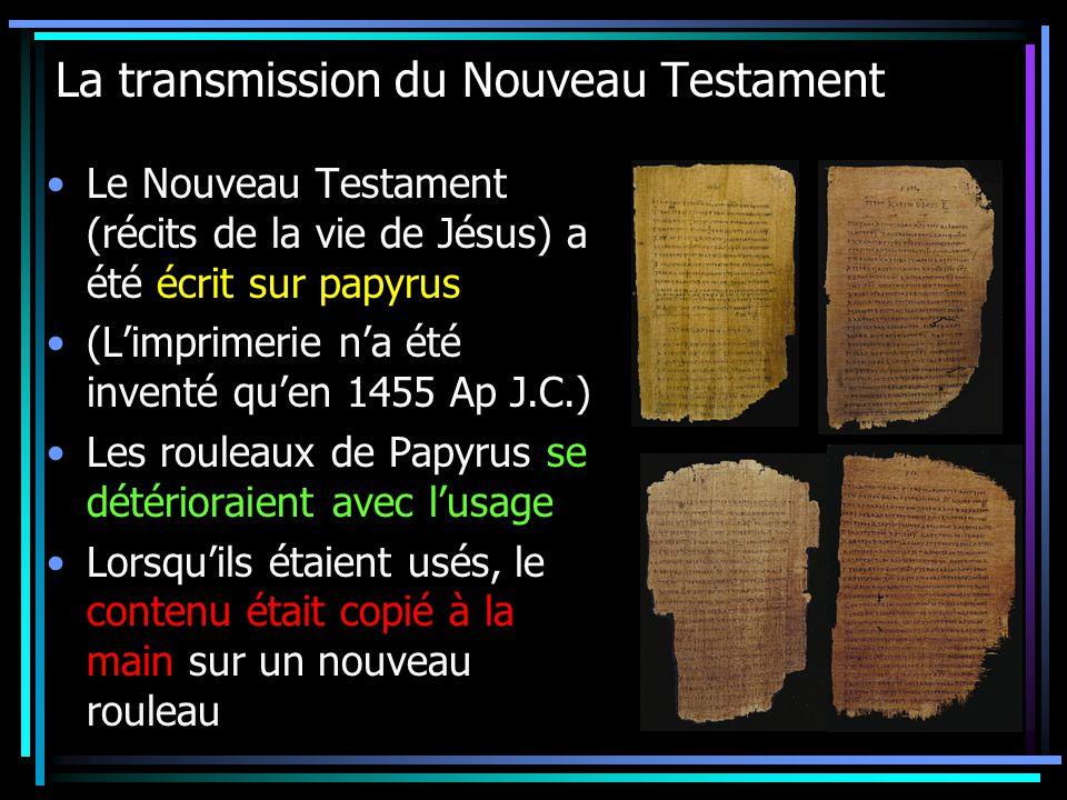 La transmission du Nouveau Testament