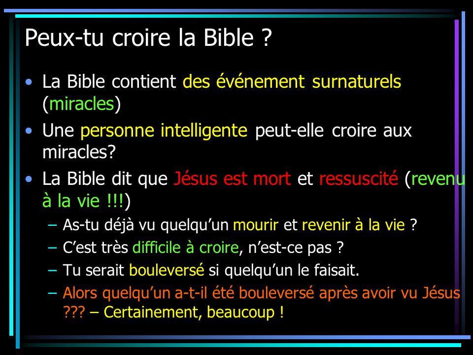 Peux-tu croire la Bible