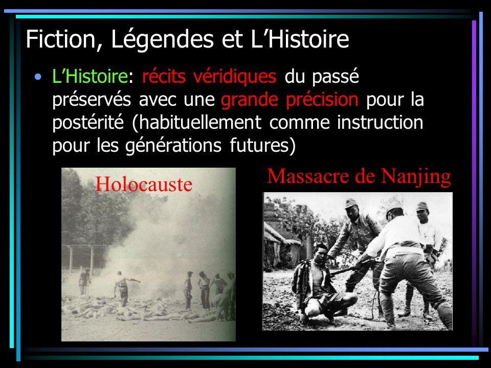 Fiction, Légendes et L'Histoire