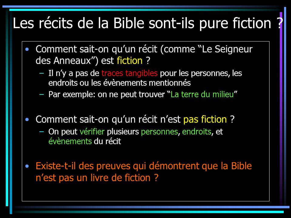 Les récits de la Bible sont-ils pure fiction