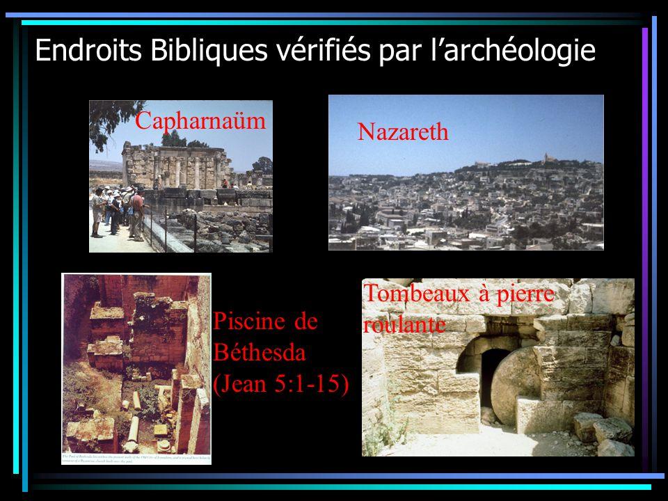 Endroits Bibliques vérifiés par l'archéologie