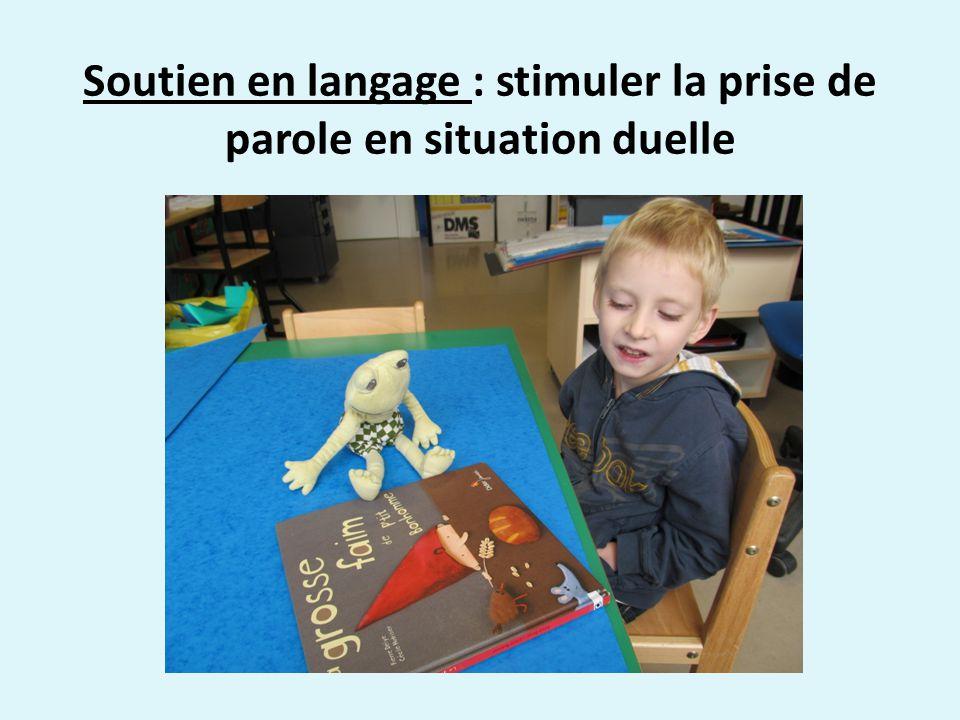 Soutien en langage : stimuler la prise de parole en situation duelle