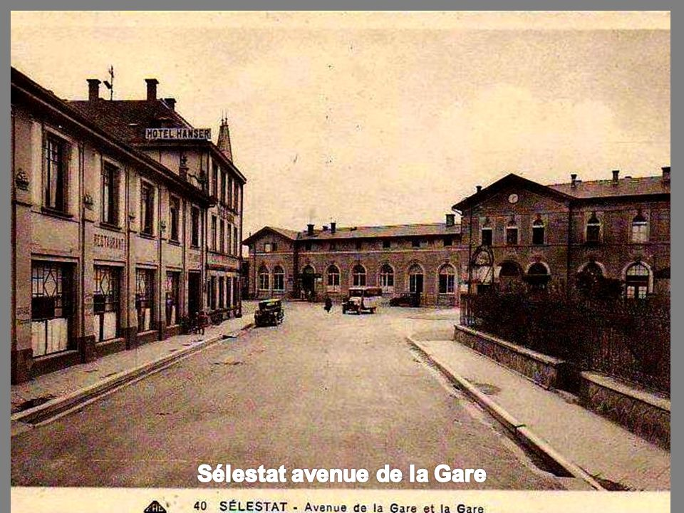 Sélestat avenue de la Gare