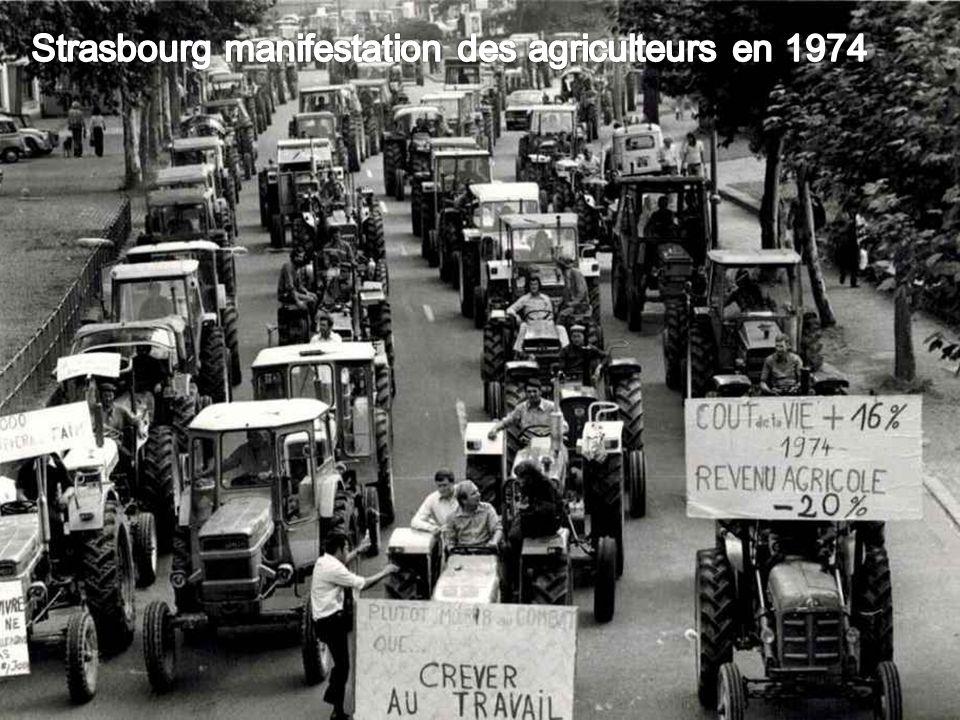 Strasbourg manifestation des agriculteurs en 1974
