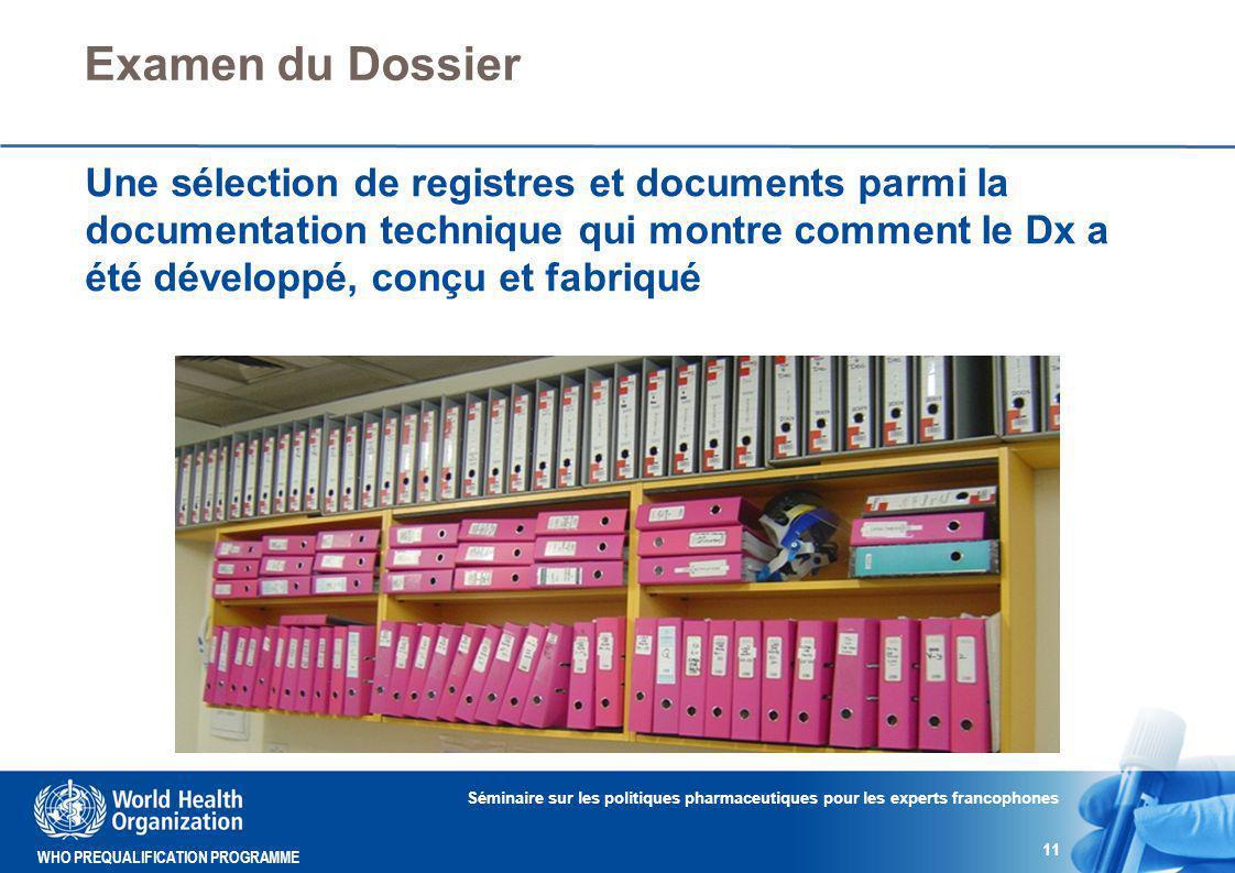 Examen du Dossier