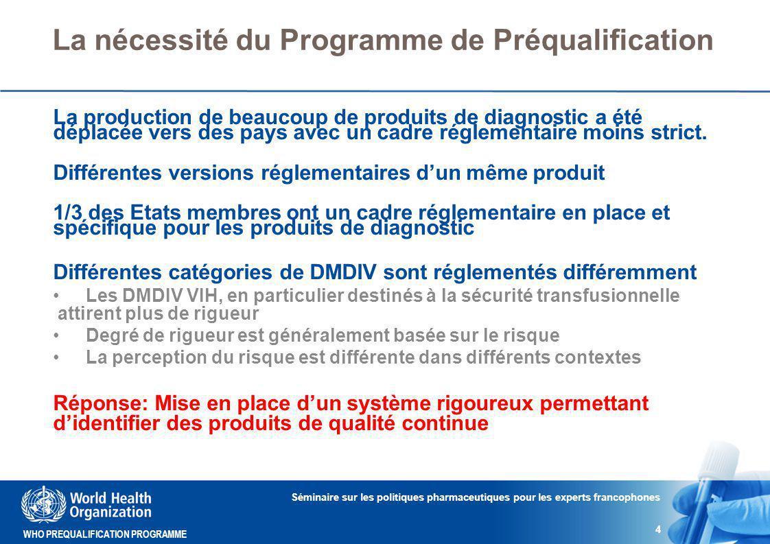 La nécessité du Programme de Préqualification