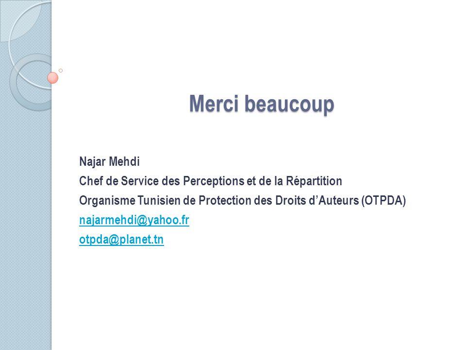 Merci beaucoup Najar Mehdi