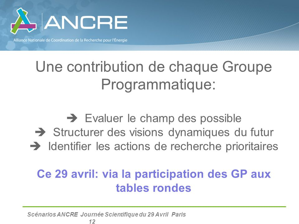 Ce 29 avril: via la participation des GP aux tables rondes