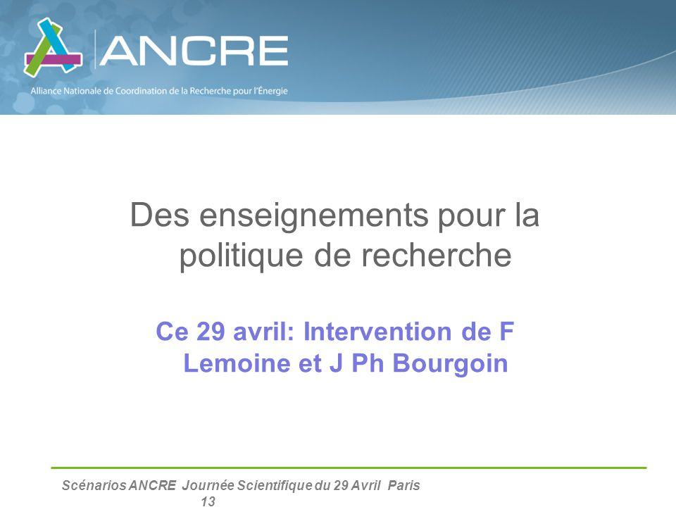 Ce 29 avril: Intervention de F Lemoine et J Ph Bourgoin