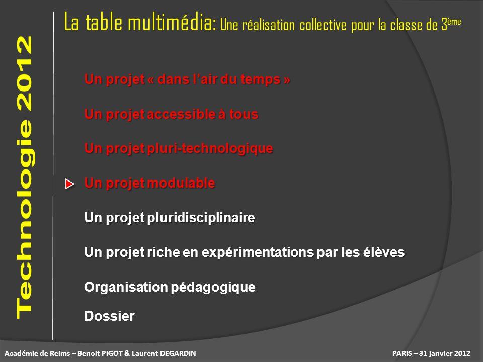 La table multimédia: Une réalisation collective pour la classe de 3ème
