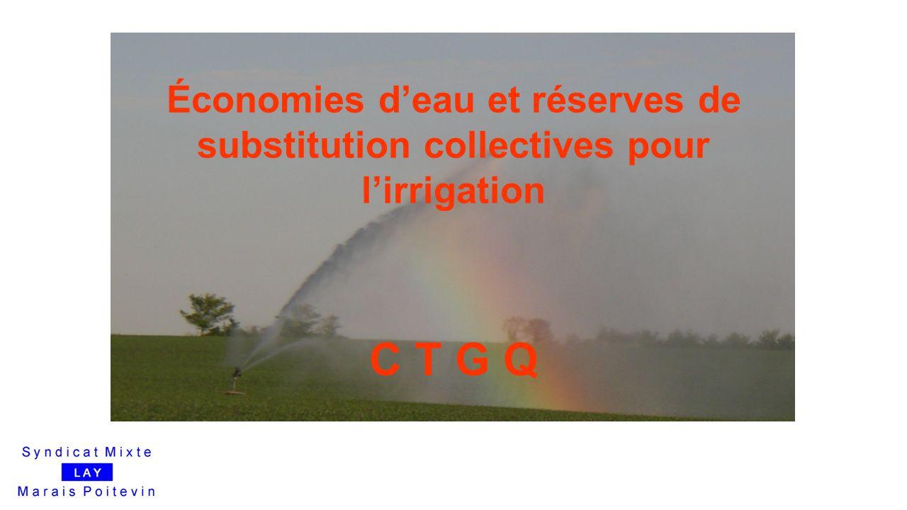 Économies d'eau et réserves de substitution collectives pour l'irrigation