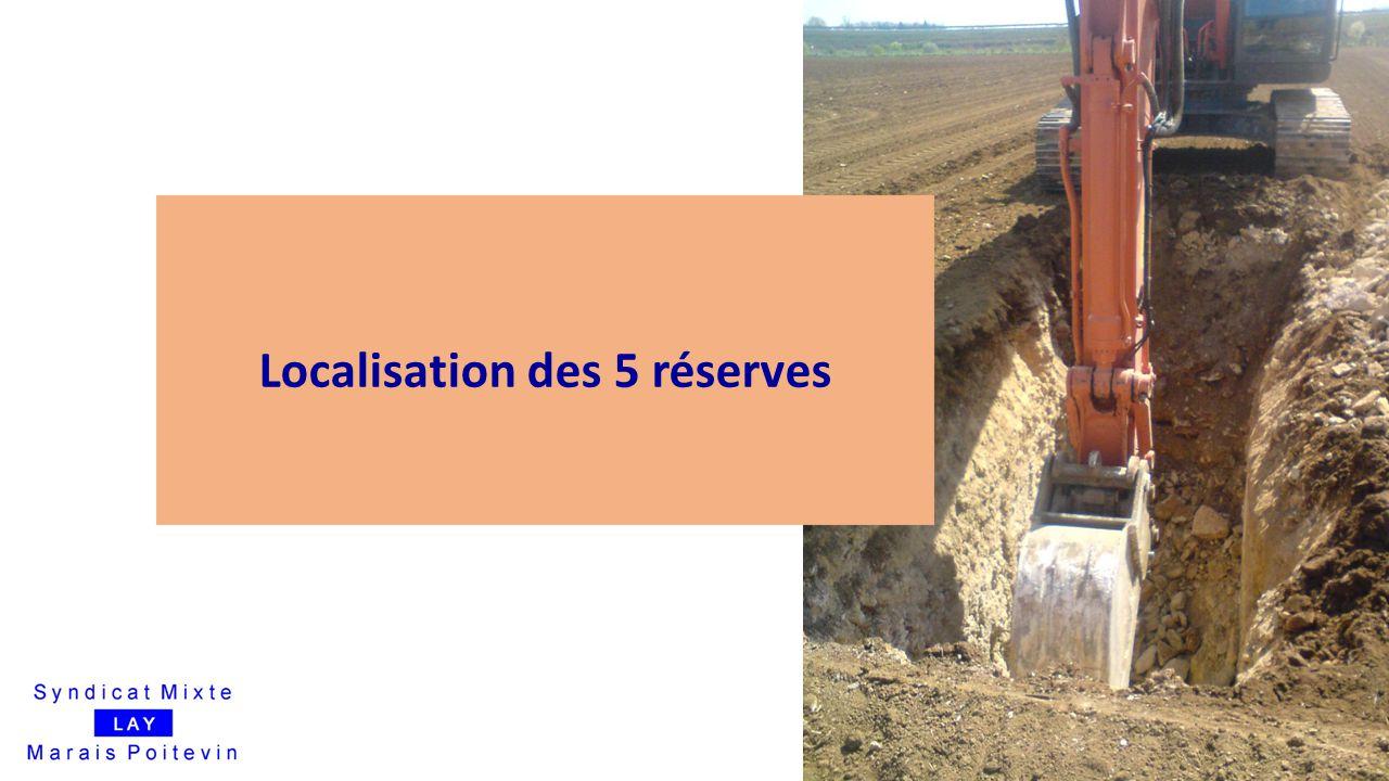 Localisation des 5 réserves