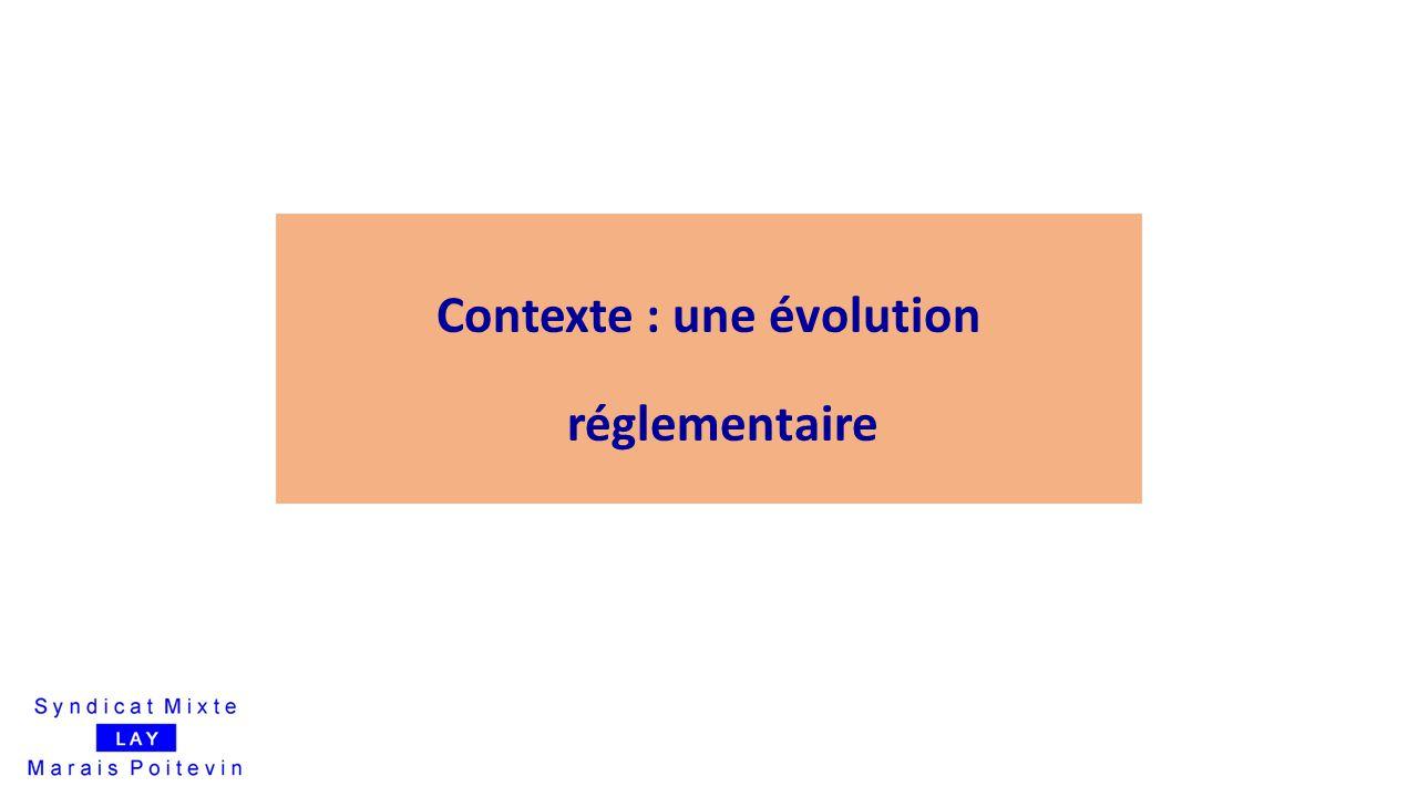 Contexte : une évolution réglementaire