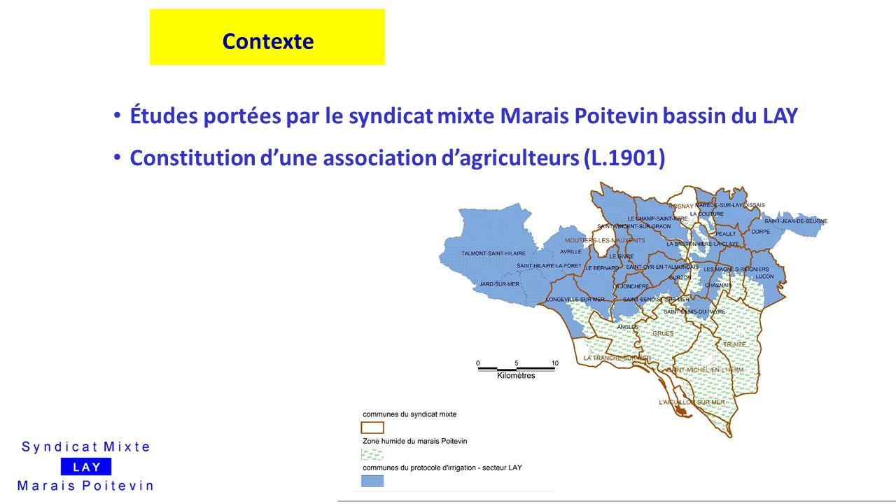 Études portées par le syndicat mixte Marais Poitevin bassin du LAY