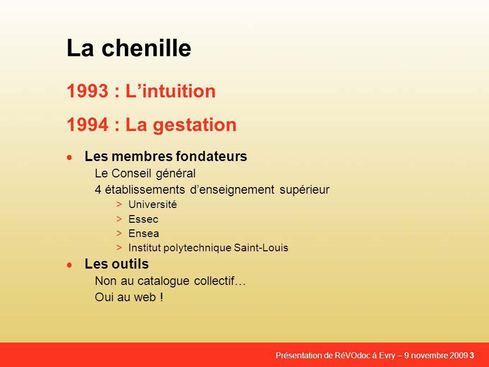 La chenille 1993 : L'intuition 1994 : La gestation