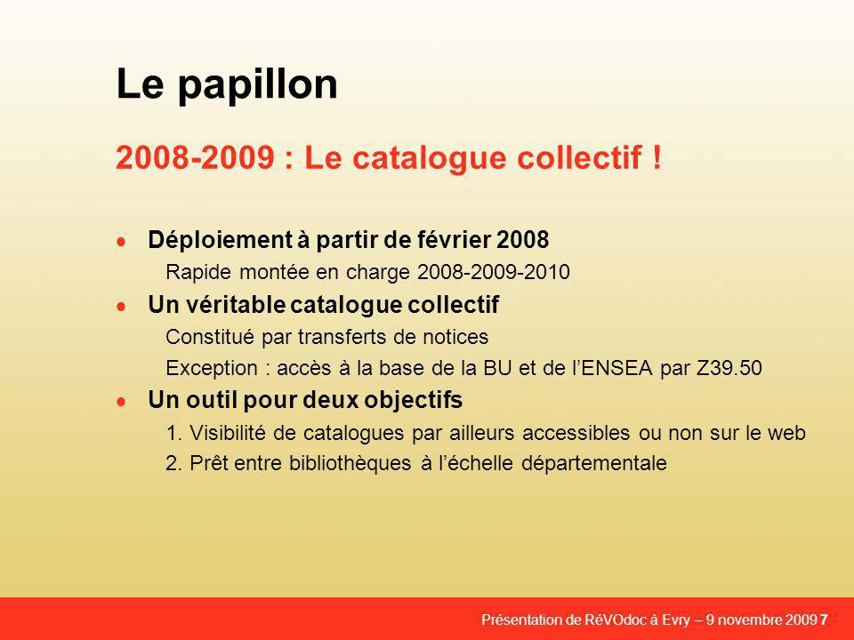 2008-2009 : Le catalogue collectif !