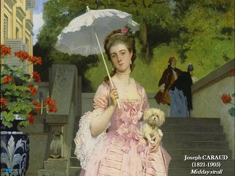 Joseph CARAUD (1821-1905) Midday stroll