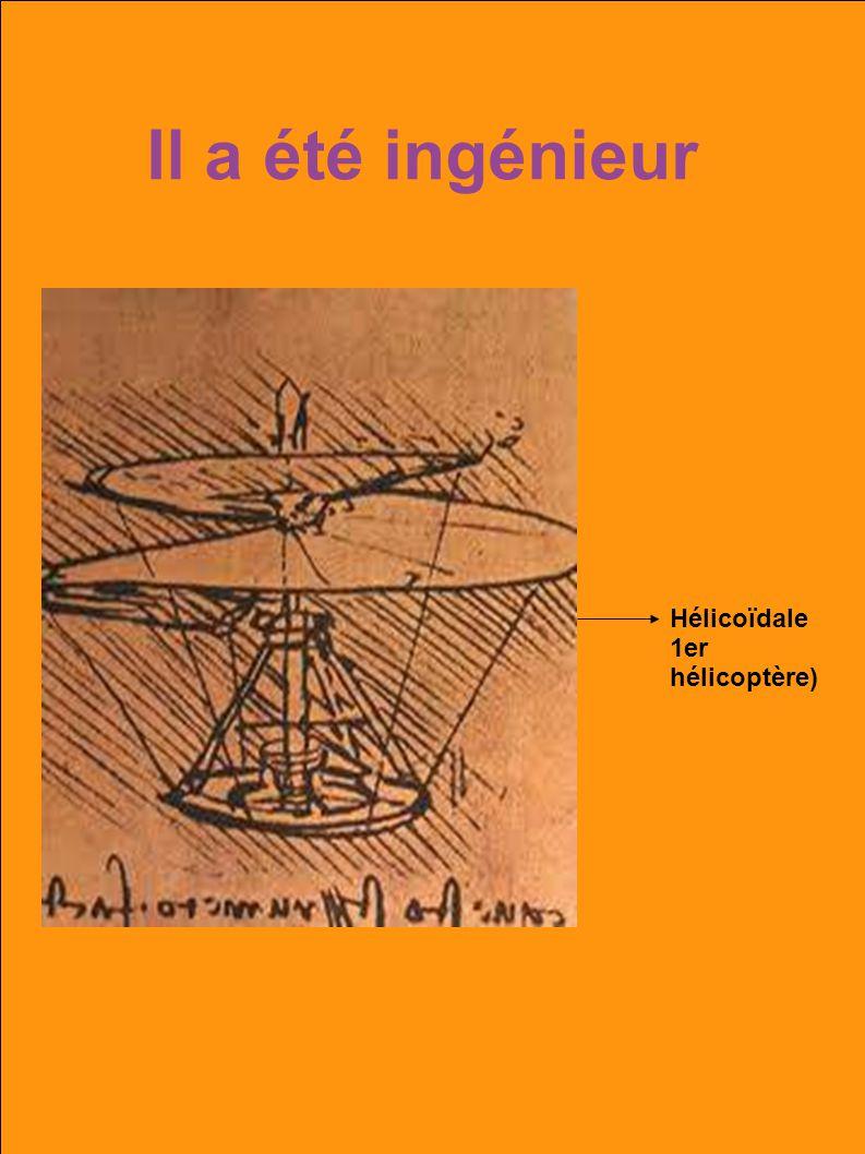 Il a été ingénieur Hélicoïdale 1er hélicoptère)
