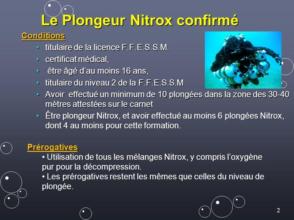 Le Plongeur Nitrox confirmé