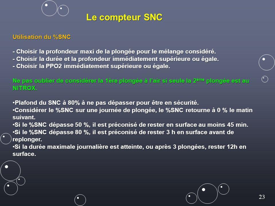 Le compteur SNC Utilisation du %SNC