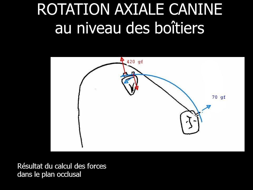 ROTATION AXIALE CANINE au niveau des boîtiers