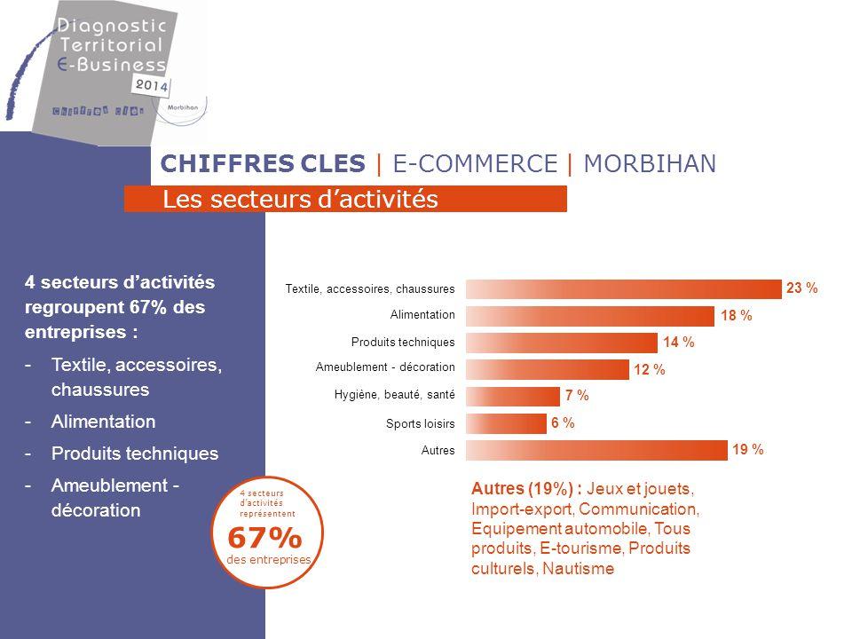 67% des entreprises CHIFFRES CLES | E-COMMERCE | MORBIHAN