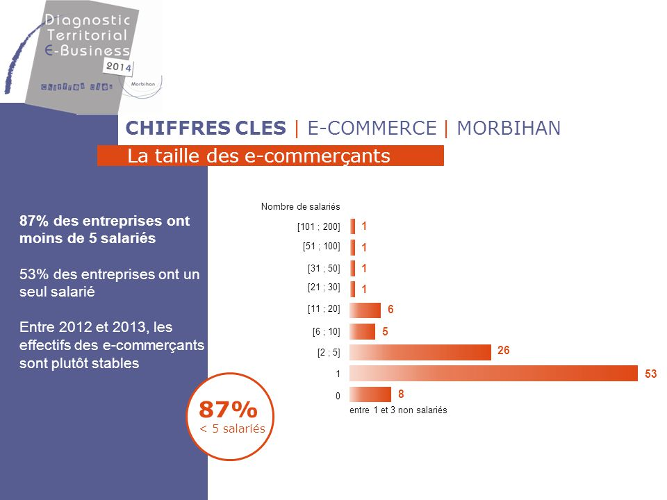 87% < 5 salariés CHIFFRES CLES | E-COMMERCE | MORBIHAN