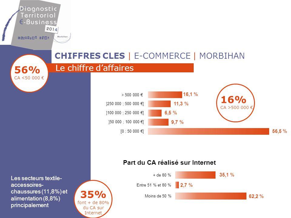 35% font + de 80% du CA sur Internet