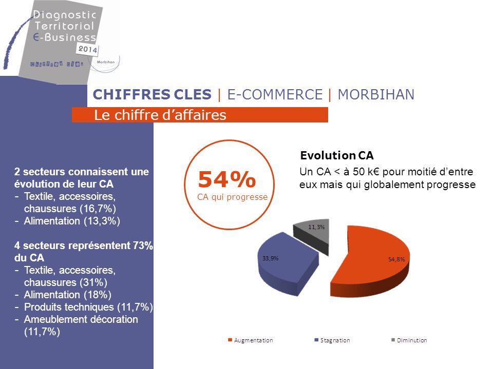 54% CA qui progresse CHIFFRES CLES | E-COMMERCE | MORBIHAN
