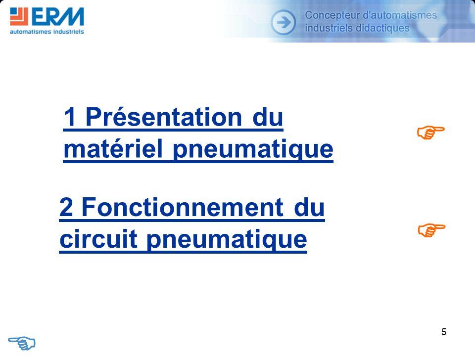 F F E 1 Présentation du matériel pneumatique