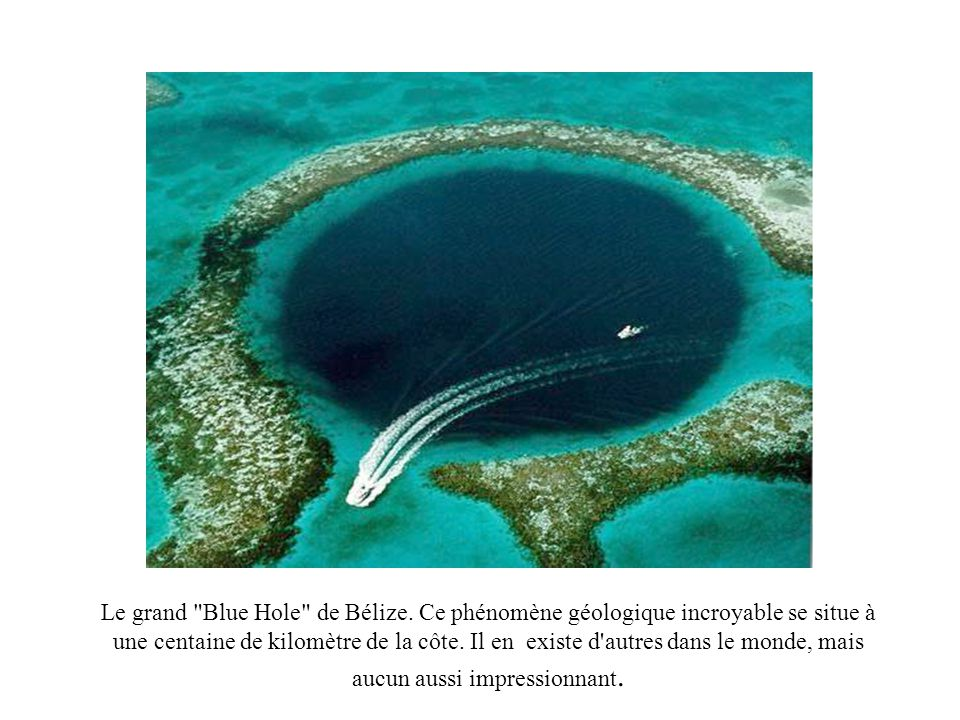 Le grand Blue Hole de Bélize