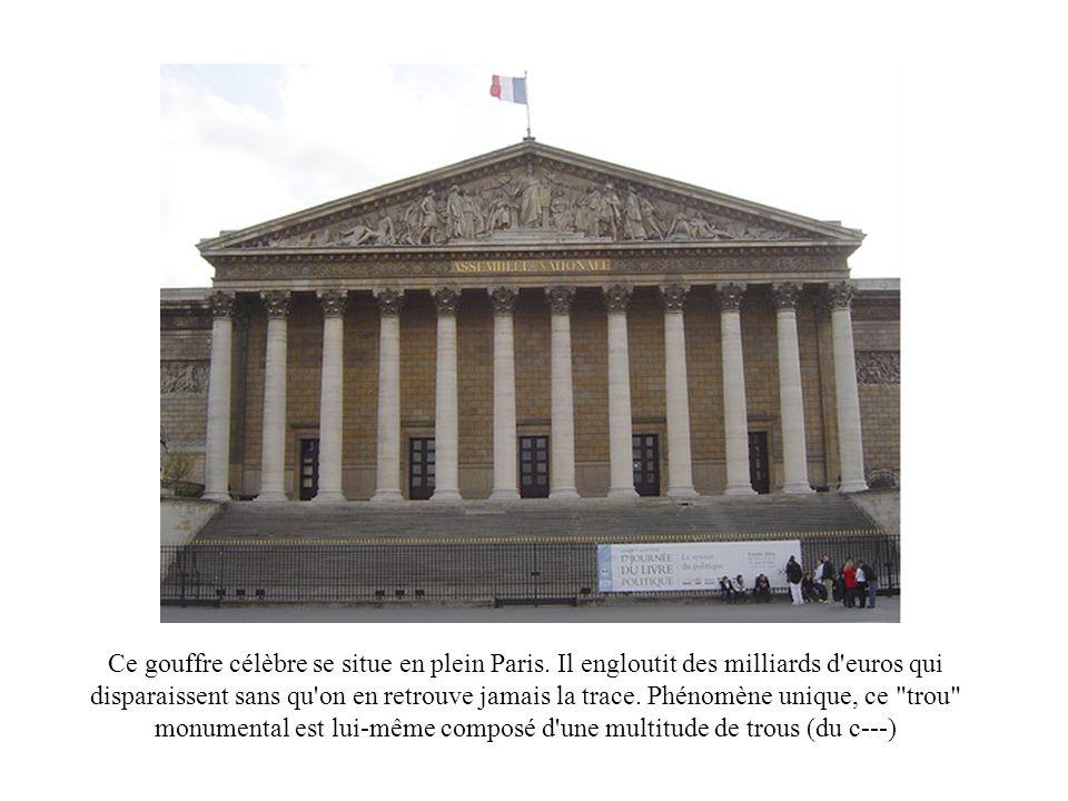 Ce gouffre célèbre se situe en plein Paris
