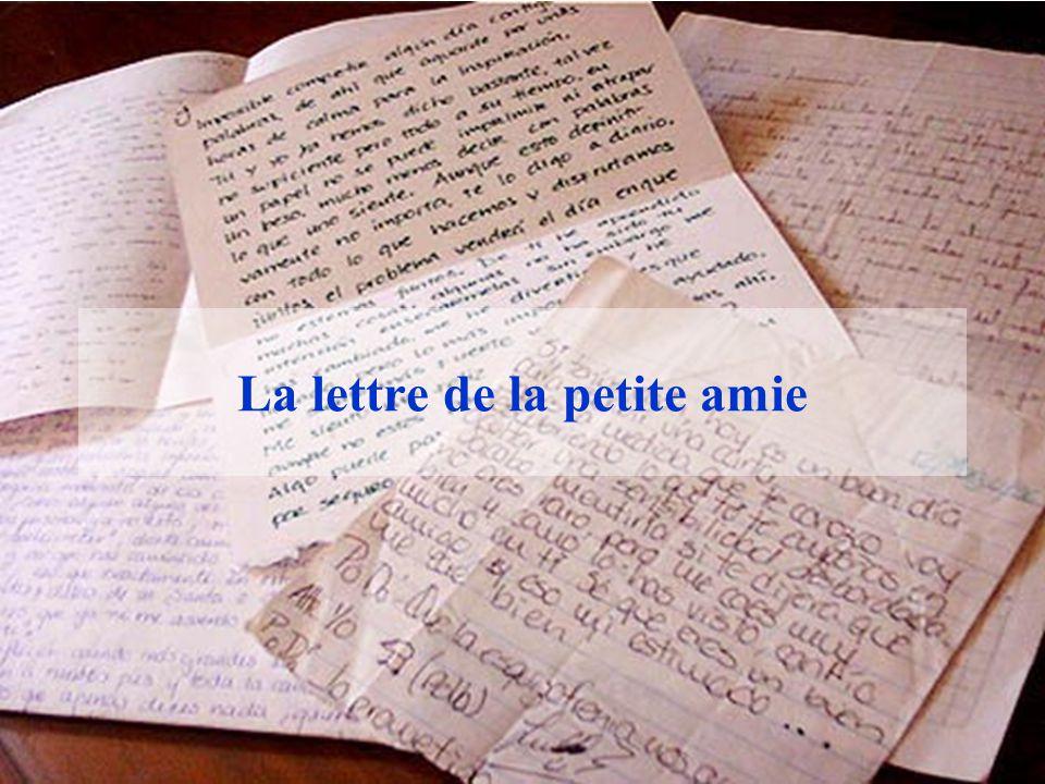 La lettre de la petite amie