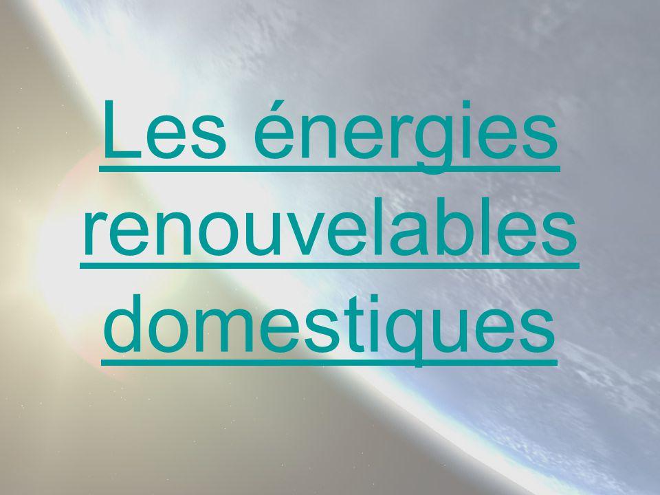 Les énergies renouvelables domestiques