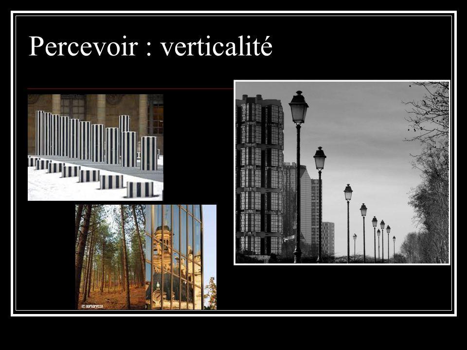 Percevoir : verticalité