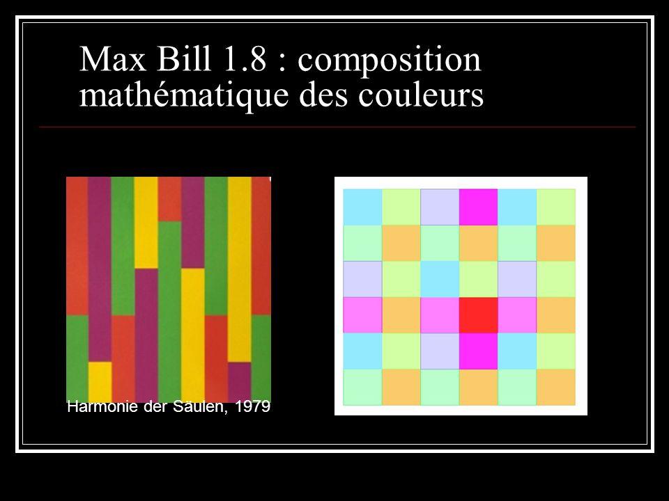 Max Bill 1.8 : composition mathématique des couleurs